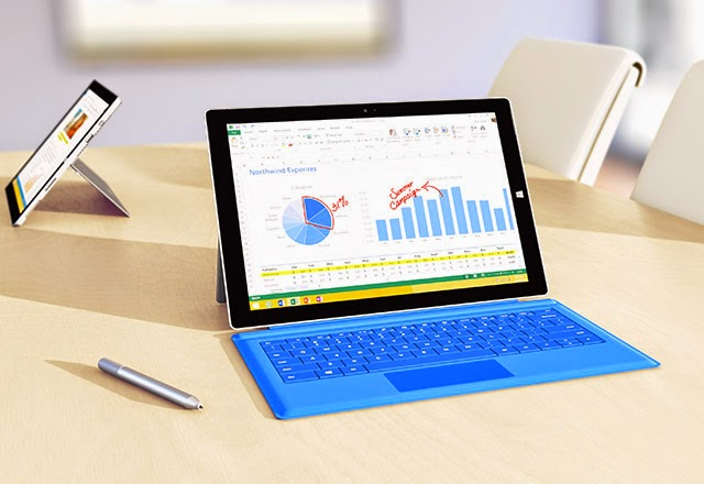 The Surface pro 3