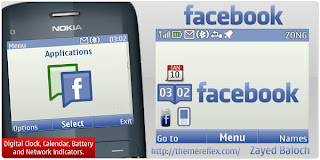 Facebook C3 theme by ZayedBaloch Download Tema Nokia C3 Gratis