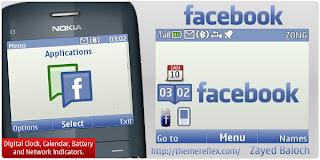 Facebook C3 theme by ZayedBaloch Download Tema Nokia C3 Gratis