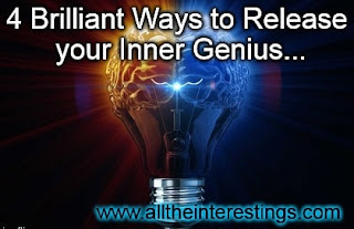 4 Brilliant Ways to Release your Inner Genius, Brain training guide, Improve brain function, train your brain