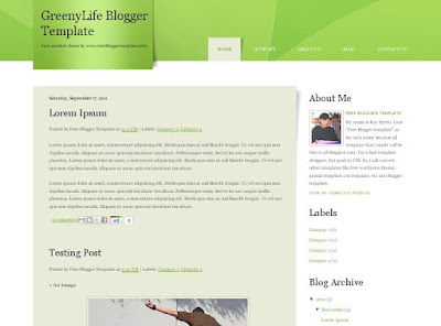 GreenyLife Blogger Template