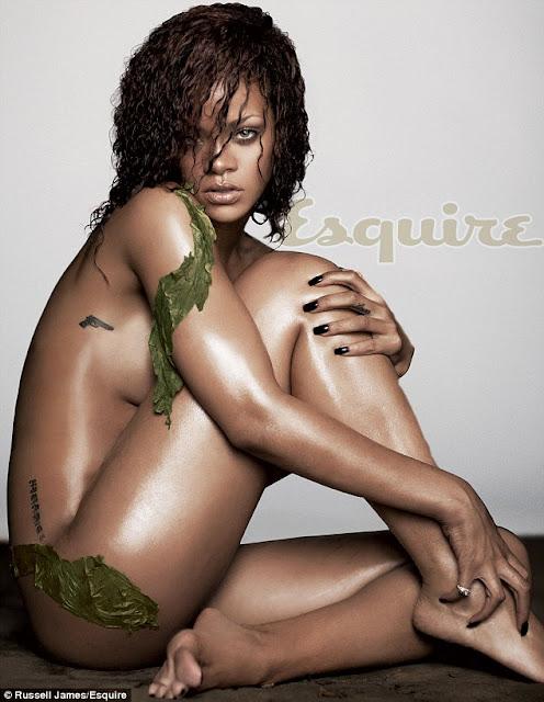 Rihanna Berpose Bugil Untuk Sampul Majalah Esquire