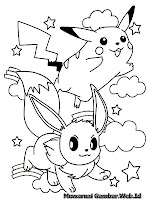 Gambar Mewarnai Pokemon Pikachu