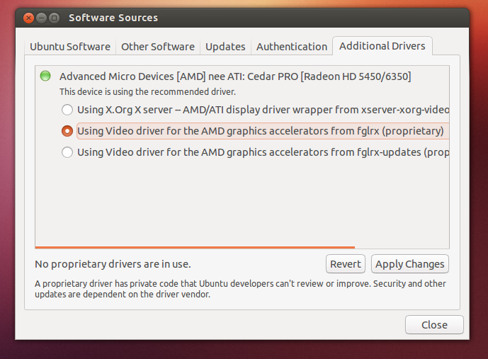 Updating graphics driver ubuntu
