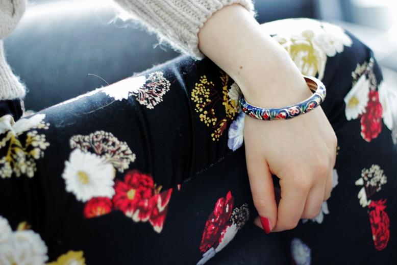 h&m pants, H&M trousers, H&M hose, chinesisch inspirites blumenmuster, china blumenmuster H&M