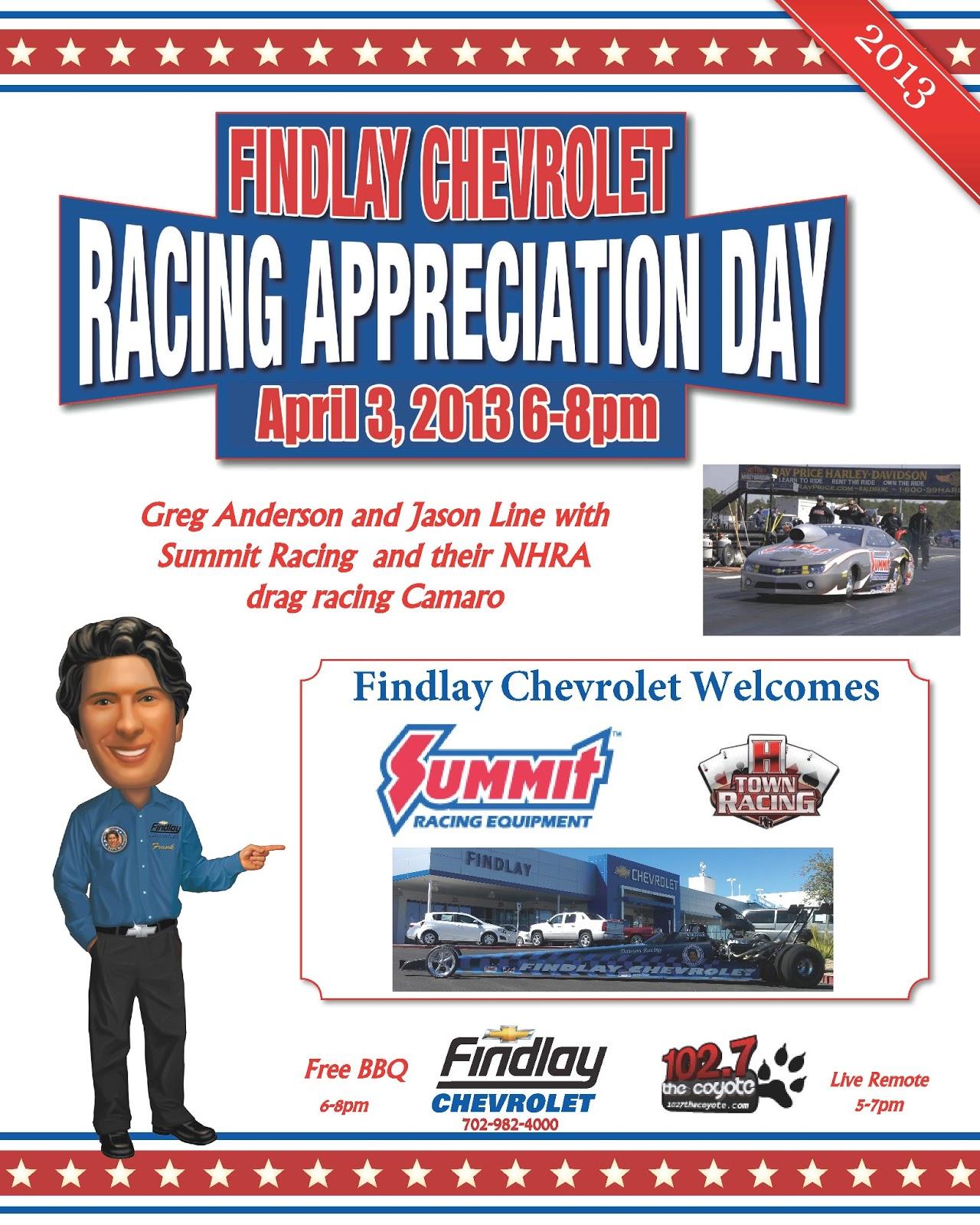 Let S Be Frank Racing Appreciation Day At Findlay Chevrolet