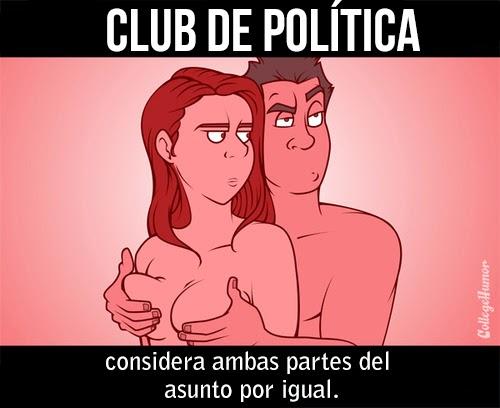 Tecnicas sexuales de los diferentes clubs - club de politica