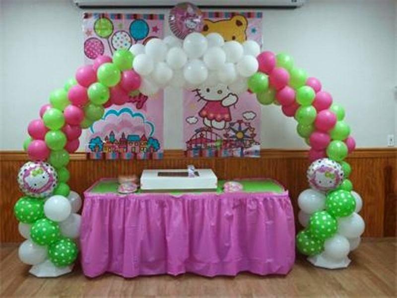 Gambar dekorasi ulang tahun anak tema hello kitty