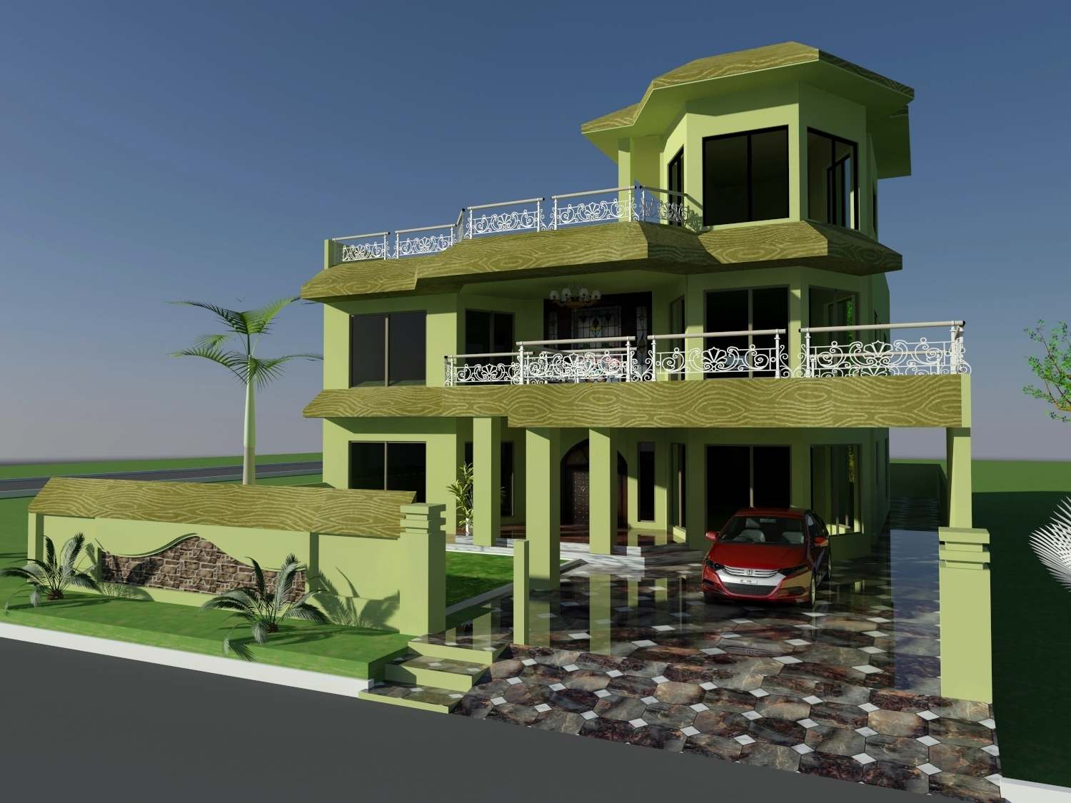 Front Elevation Colour Combination : House elevation color combinations joy studio design