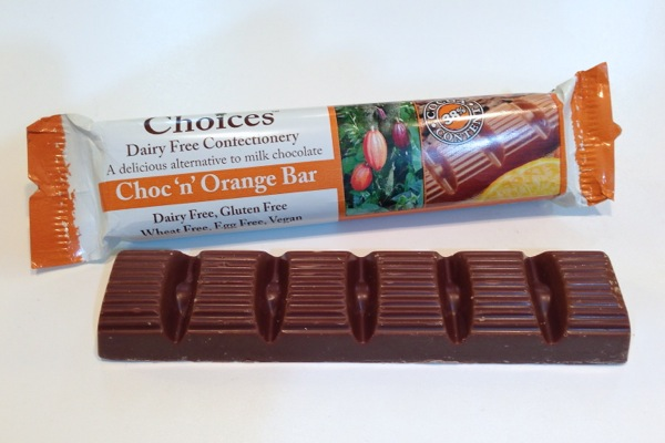 Celtic Choices Choc 'n' Orange Bar is vegan