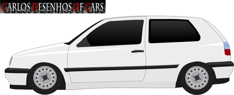 Carlos Desenhos Of Cars Golf Mark 3 Duas Portas