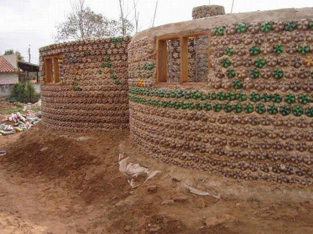 DIY bottle houses