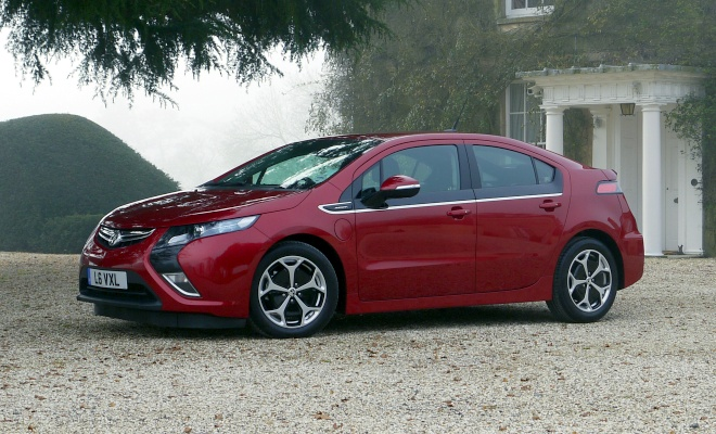 Vauxhall Ampera from the side