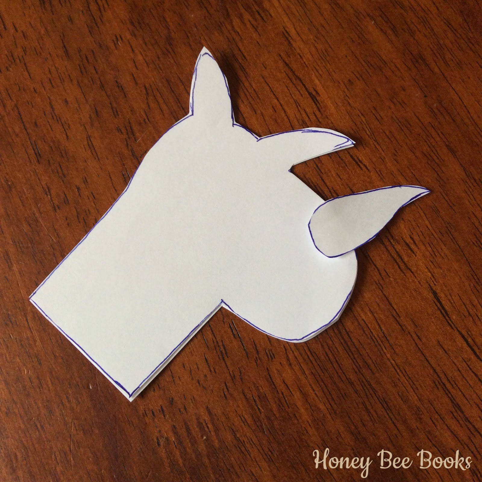 Rhino finger puppet template