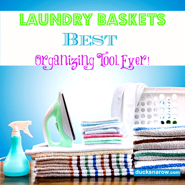 Laundry baskets, hampers, bags, sorters #organizing #laundry Ducks 'n a Row