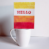 hello thinking of you greeting card