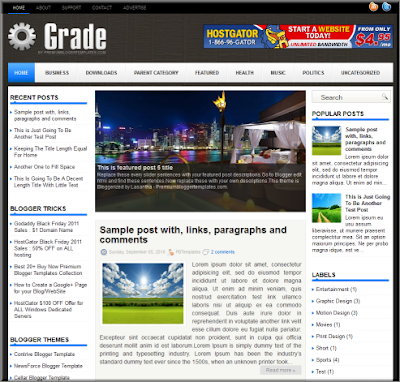 Grade 3 column blogger template