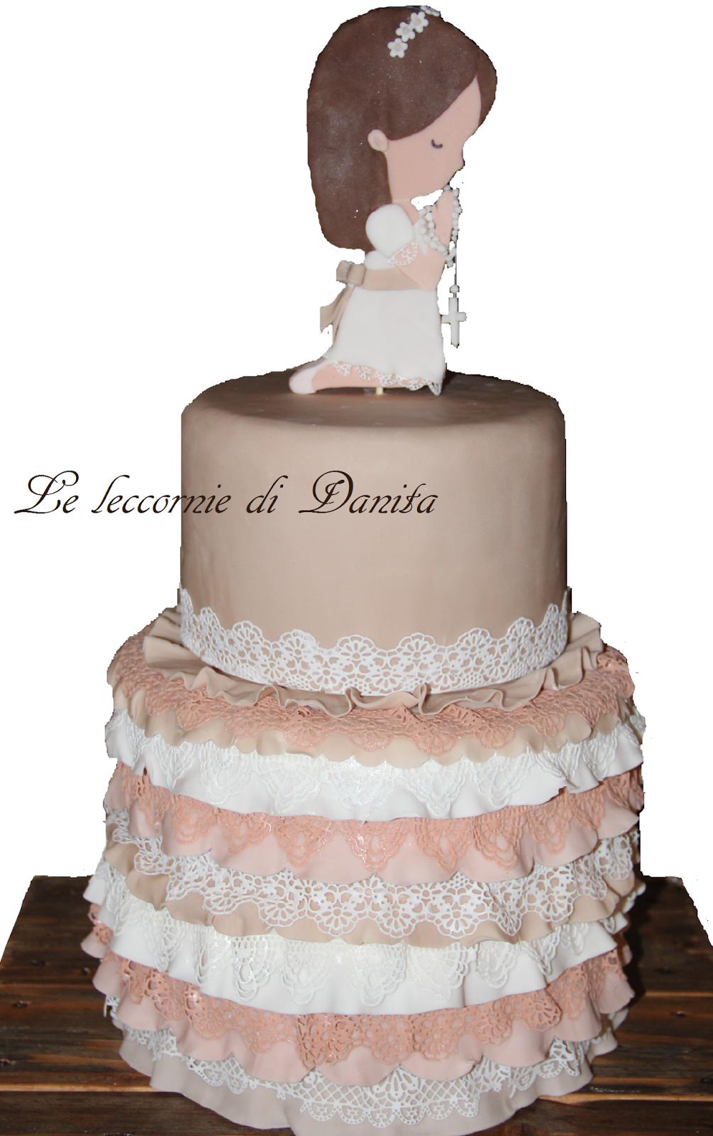 Le leccornie di danita torta prima comunione della mia for Design a 2 piani