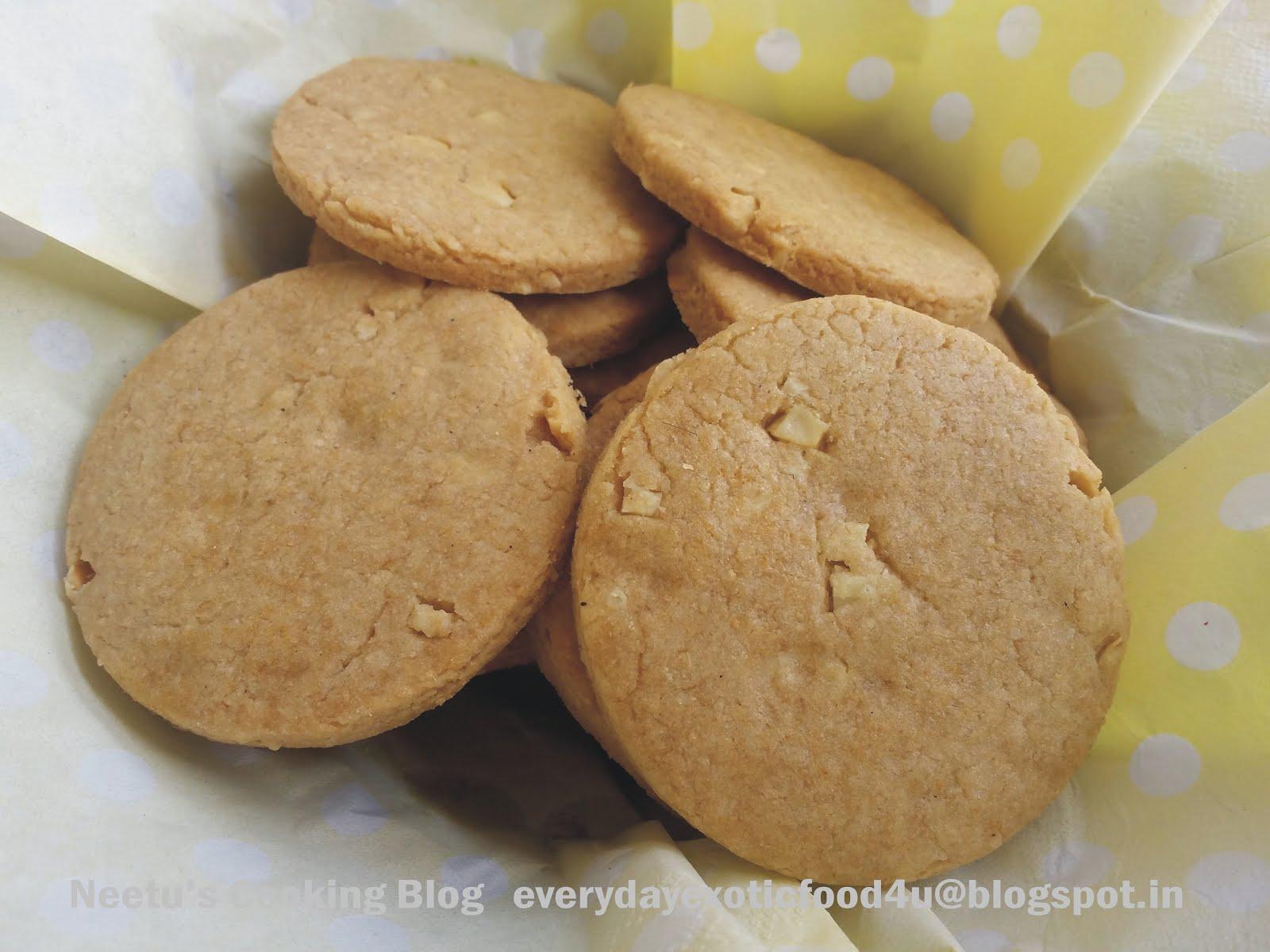 Cashew Atta Biscuits