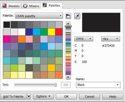 Как в кореле сделать яркие цвета