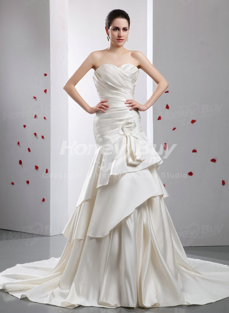 Choose a suitable wedding dress is a science