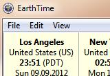 برنامج معرفة التوقيت لأي مكان في العالم EarthTime 3.4