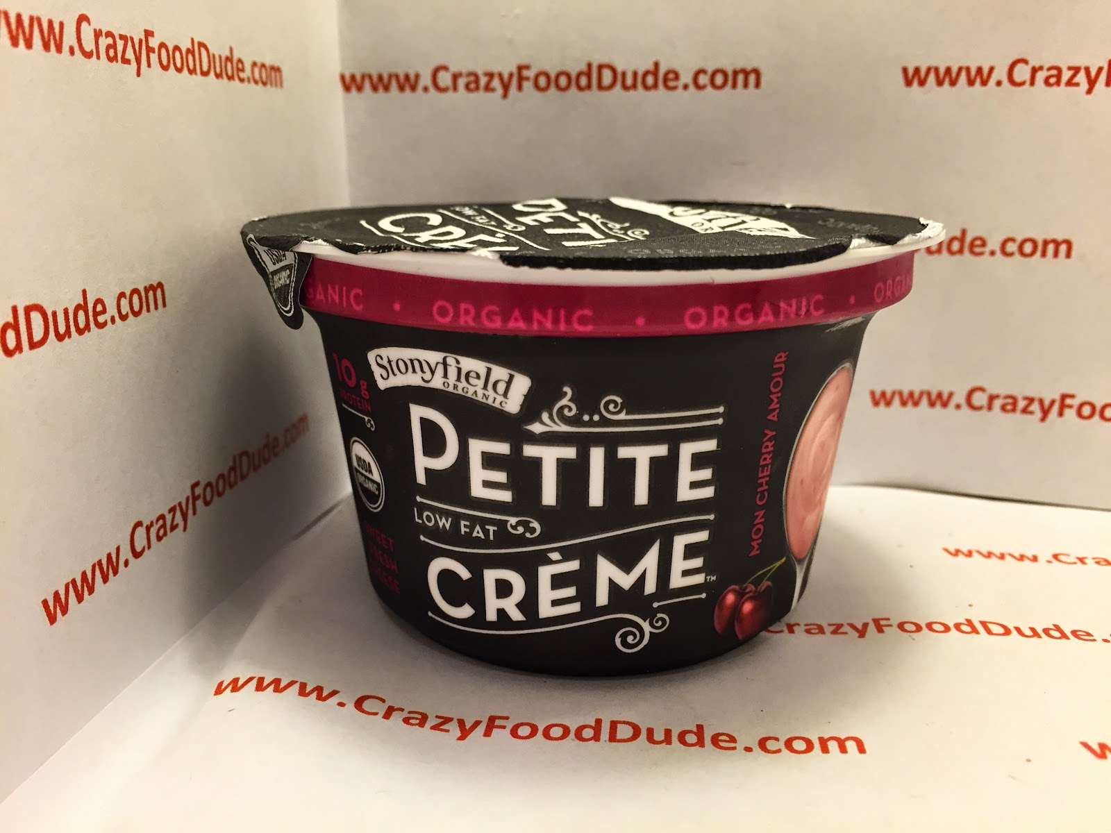 Review Stonyfield Organic Petite Creme Mon Cherry Amour Low Fat Sweet Fresh Cheese
