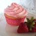 Cupcakes aux fraises fraîches du Québec