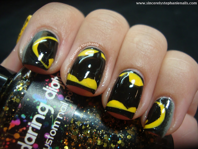 batman nail art