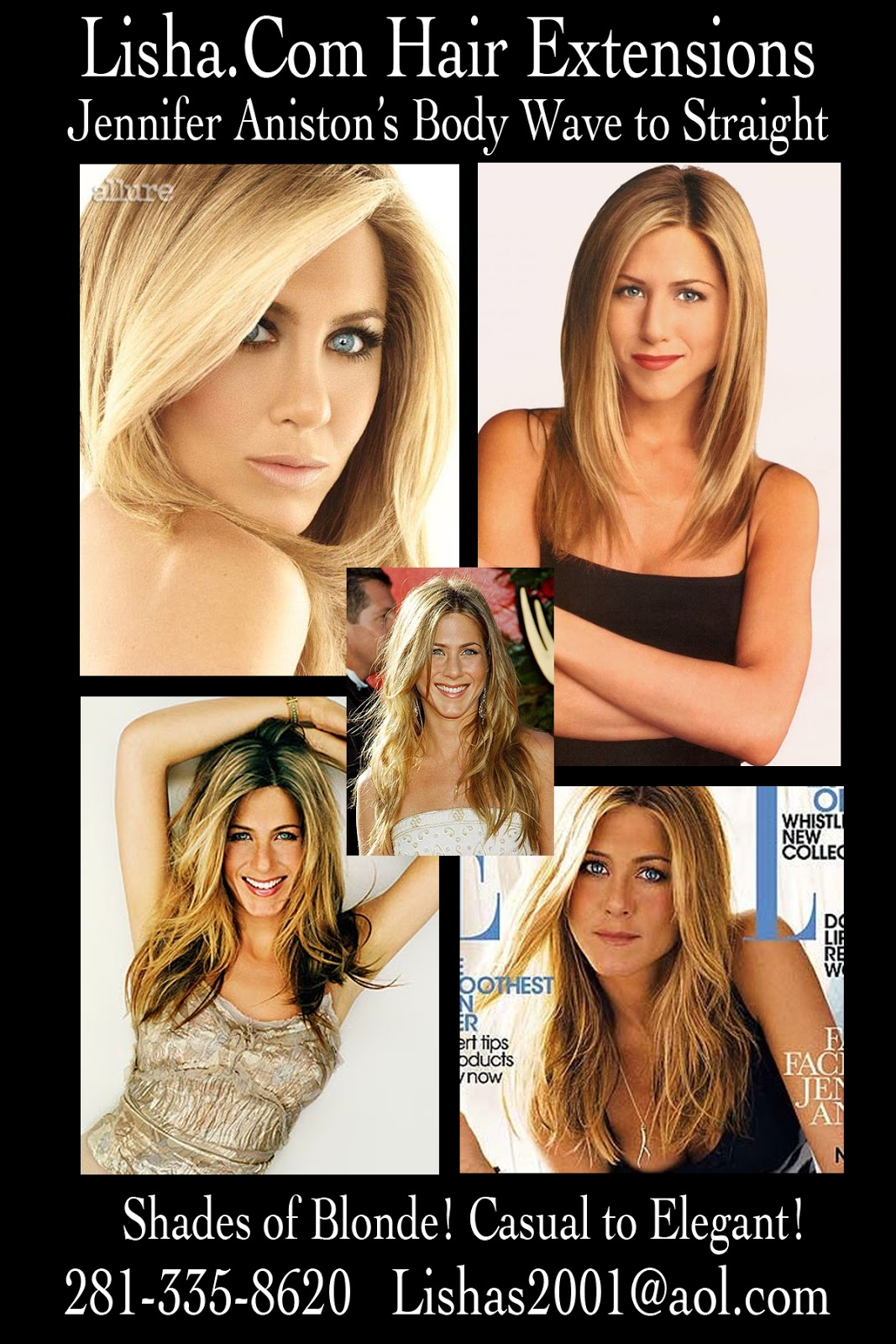 Jennifer Aniston Casual To Elegant Hair Extensions Houston 281