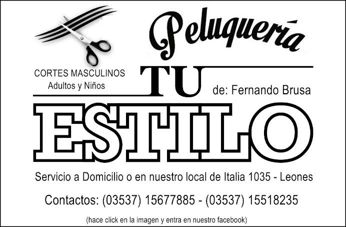 """ESPACIO PUBLICITARIO: PELUQUERÍA """"TU ESTILO"""""""