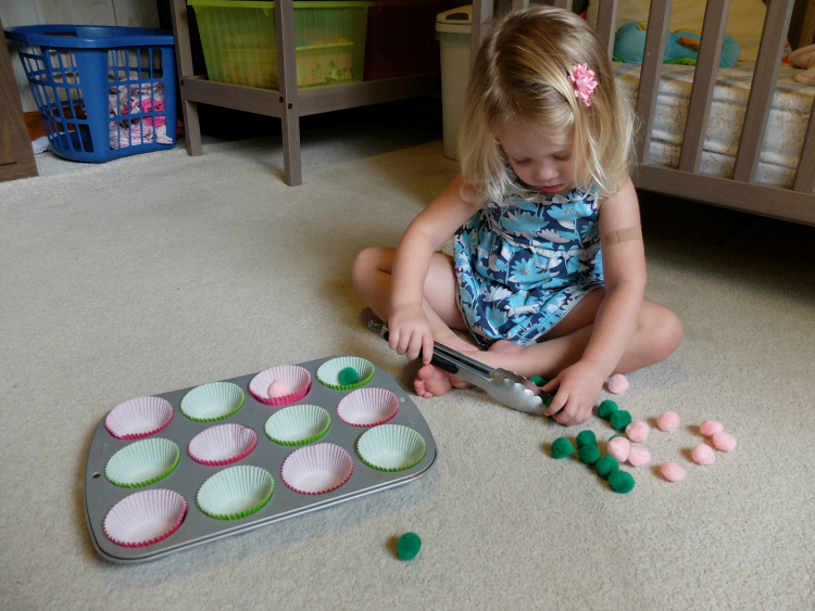 activities with pom poms for toddlers