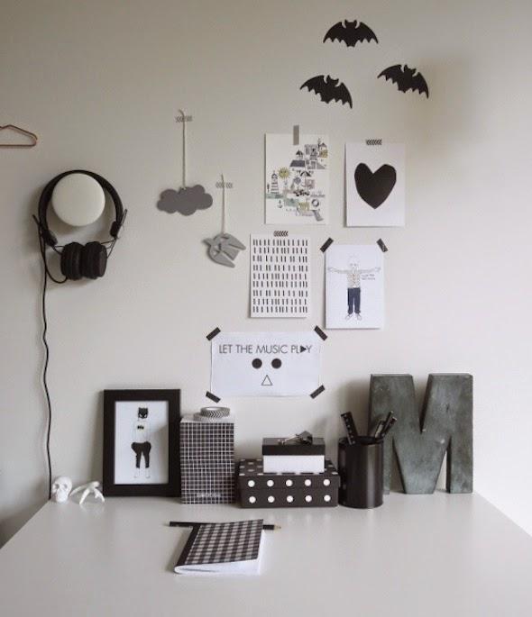 cuarto infantil, nórdico, escandinavo, minimalista, blanco y negro, dekoloop