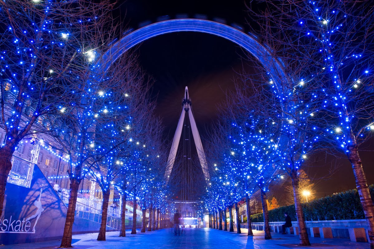 Christmas london eye hd wallpapers blog for Best light decoration