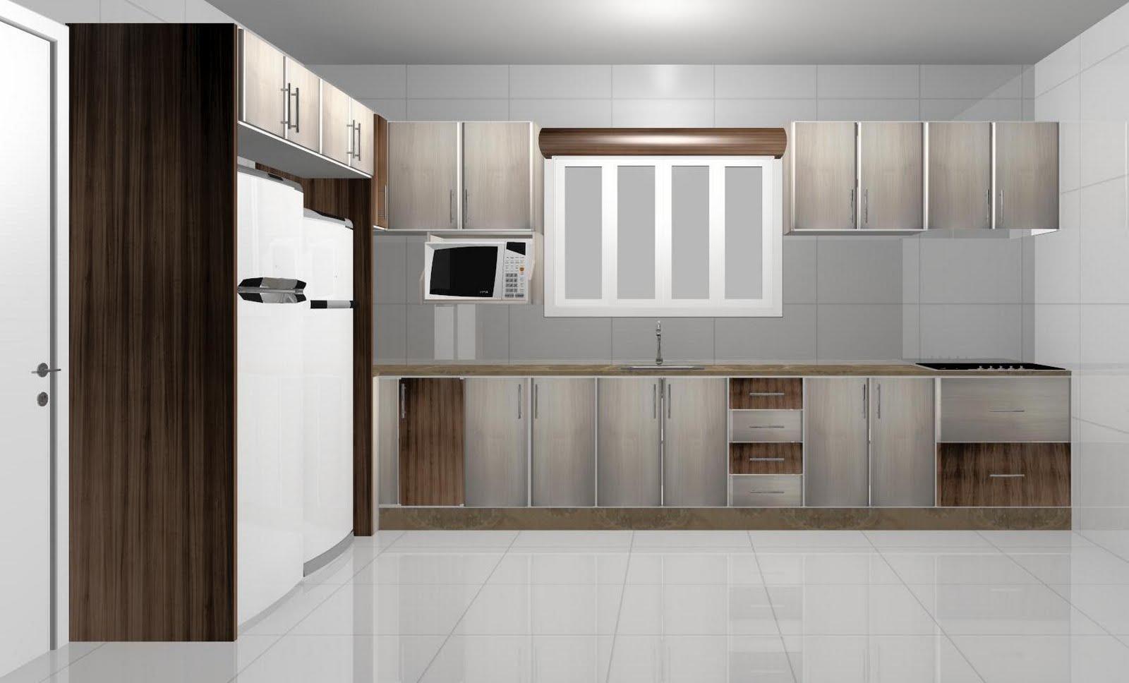 Espaço Nobre Design: Cozinha (Nogueira Boreal Carvalho Latino) #31241A 1600 968