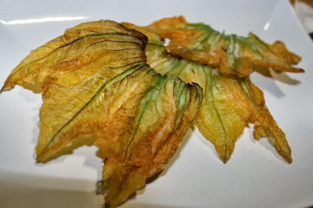 fiori di zucca in pastella di Carlo Cracco