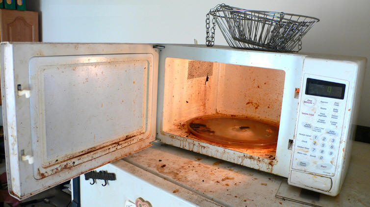 Como limpiar cosas como limpiar tu horno de microondas - Limpiar suelos muy sucios ...