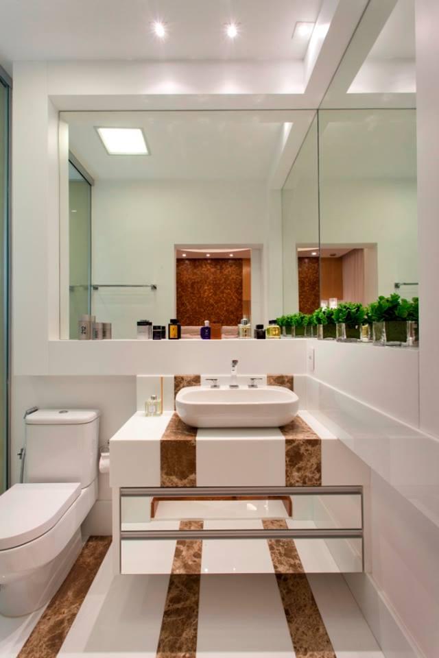 Construindo Minha Casa Clean 10 Banheiros Modernos com Armários Espelhados!  -> Armario Banheiro Moderno
