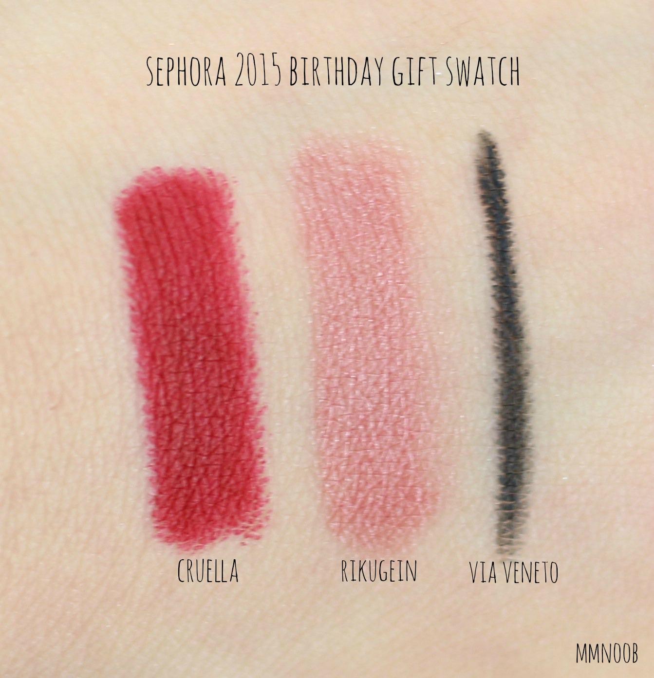 MMnoob: Sephora Birthday Gift 2015