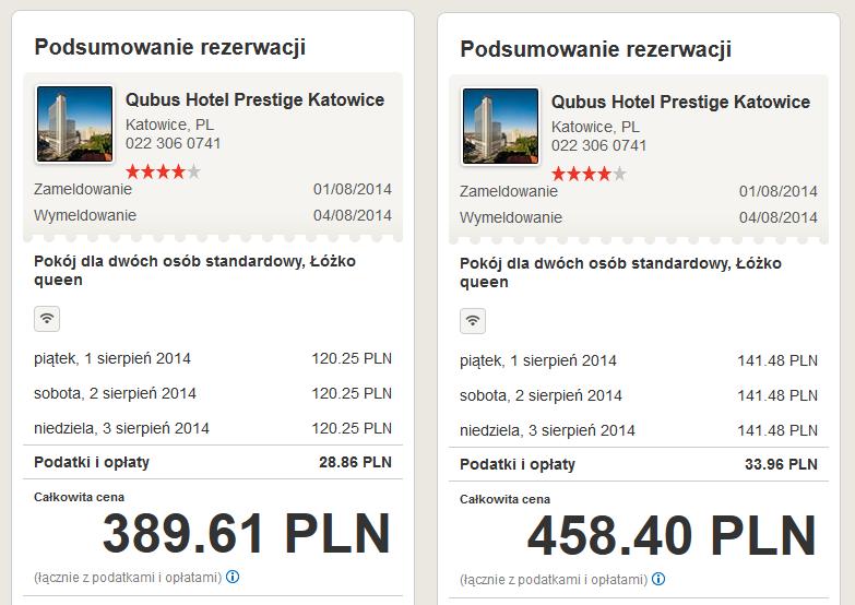 Qubus Hotel Prestige Katowice bezplatna anulacja
