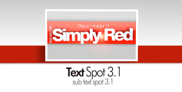 VideoHive Simply Red CS4