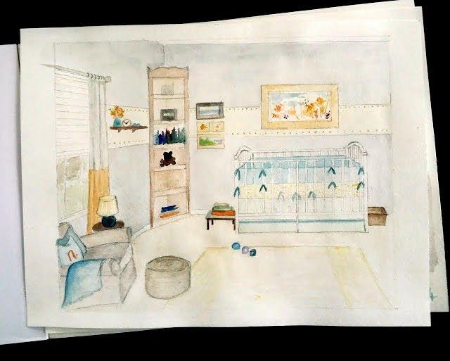 ROSYRILLI.COM Nursery inspiration sketch
