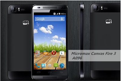 Micromax Canvas Fire 3 A096 :4.5 inch, 1.3GHz Quad core Android Phone Specs, Price