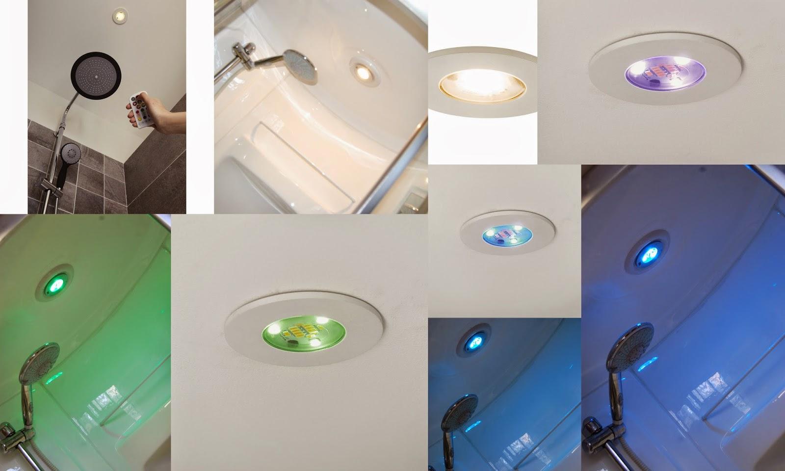 mon blog parmi tant d 39 autres lechatmorpheus placer des spots au dessus de la douche. Black Bedroom Furniture Sets. Home Design Ideas