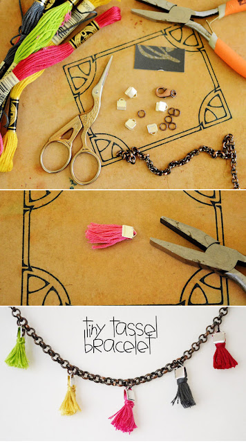 tiny tassel bracelet diy
