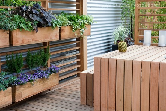 Backyard Garden Boxes :  garden+box+planter++modern+garden++vegetable+garden++outdoor+space+