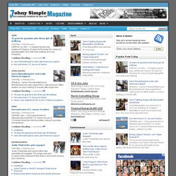 Johny Simple Magazine blogger template. clean template for blogger template. portal news blogger template