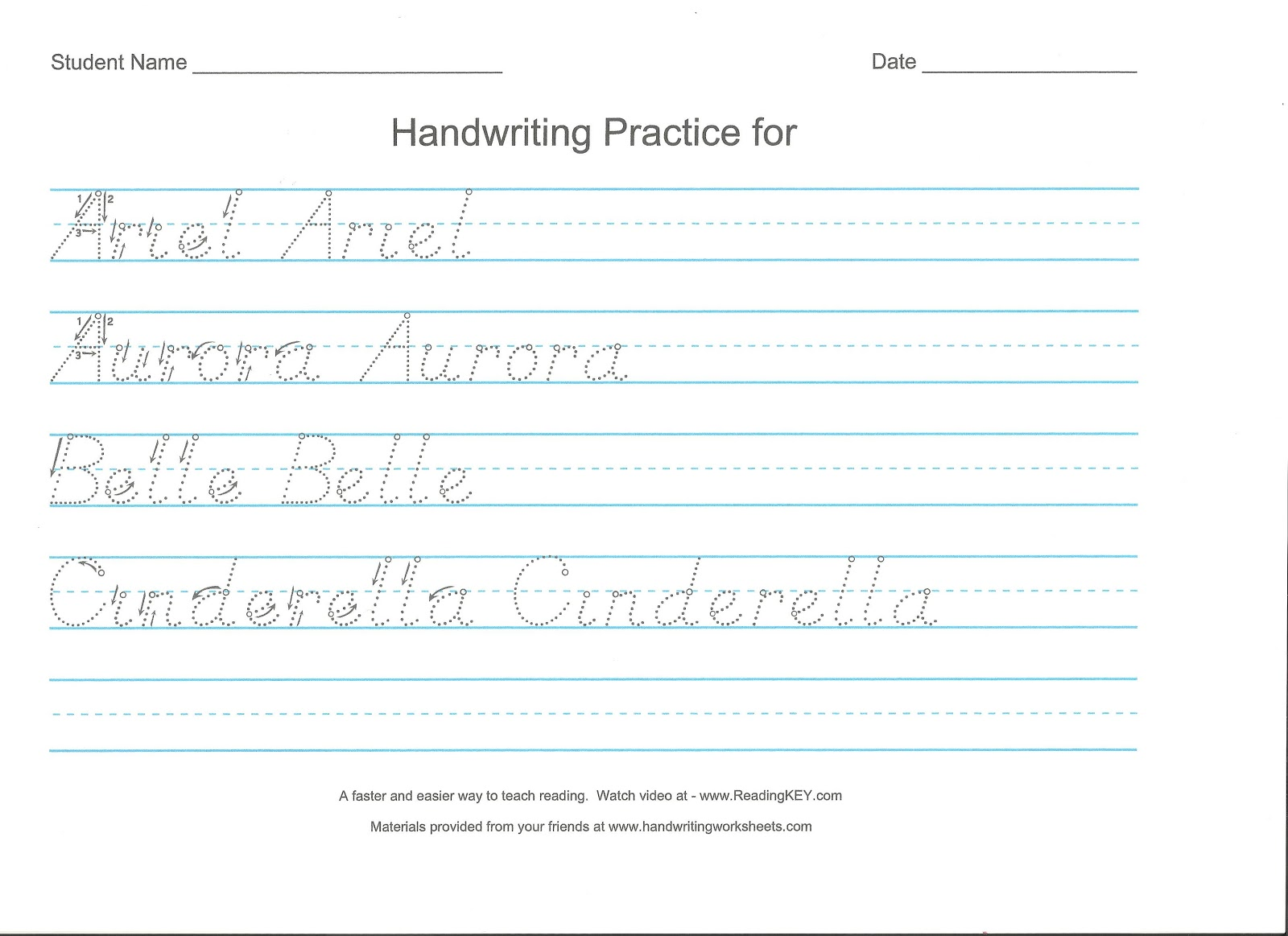Worksheets D Nealian Cursive Worksheets nurturing naters with learning activities at home dnealian handwriting practice sheets for a princess
