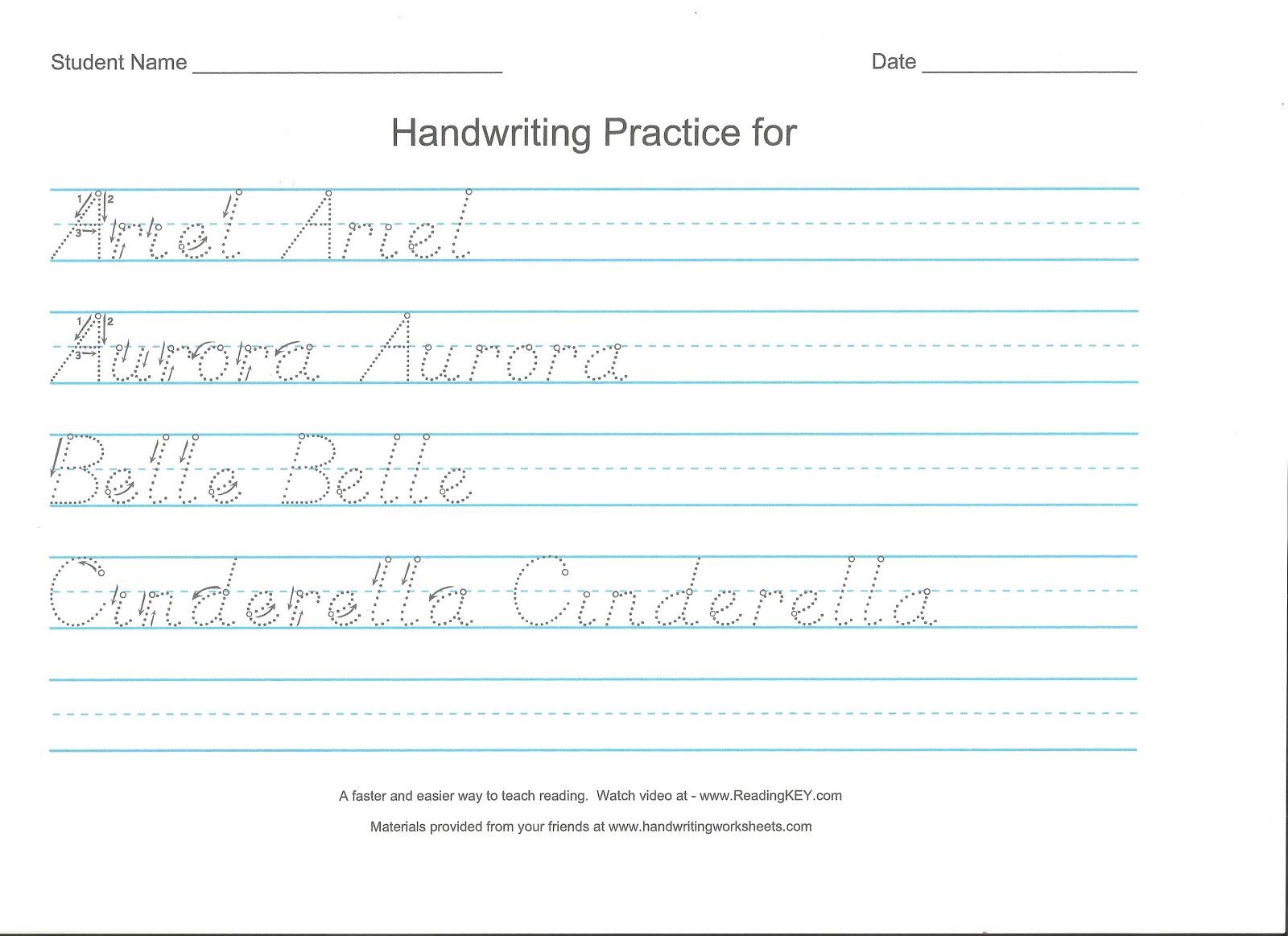 D Nealian Cursive Handwriting Practice Worksheets Pictures to Pin – Handwriting Practice Worksheet