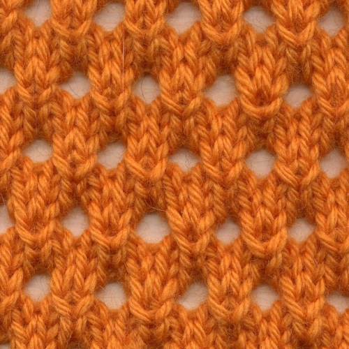 Knot Knecessarily Known Knitting Symmetrical Yarn Over Net Pattern